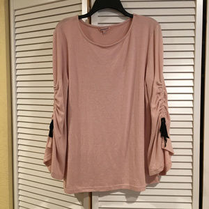 Juicy Couture (Large) pink cinch sleeve sweater